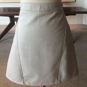 19da45134dc3 Women White Zara Leather Skirt on Poshmark